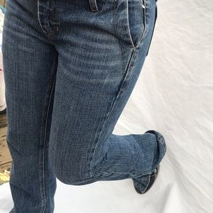 Gap Low Rise split Ankle Boot Denim Jeans Size 4R